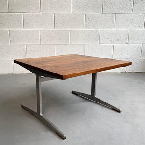 Mid Century Modern Walnut And Steel Coffee Table