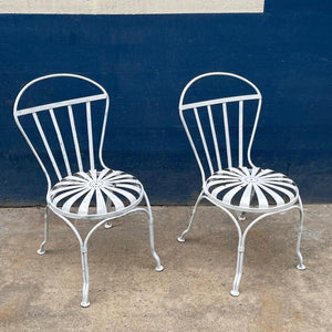 Art Deco Sunburst Garden Chairs By Francois Carré