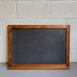 Slate Chalkboard With Oak Frame
