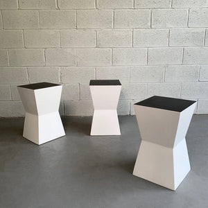 Modernist Geometric Stool Stands