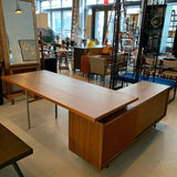George Nelson For Herman Miller Executive Desk With Credenza Return