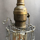 Petite Brass Cage Light