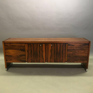 Mid Century Modern Rosewood Office Credenza
