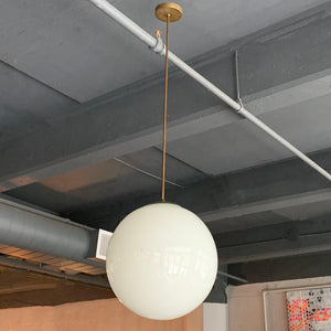 Large Milk Glass Globe Pendant Light
