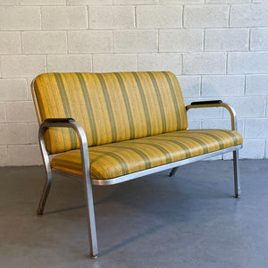 Midcentury Aluminum Frame Loveseat Sofa By Goodform