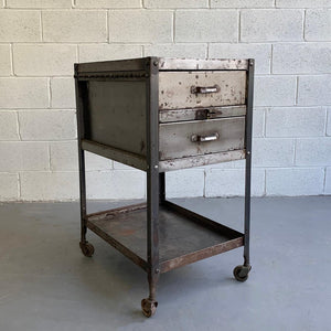 Industrial Brushed Steel Tool Caddy