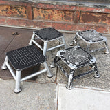 Aluminum Train Station Stools