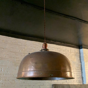 Copper Dome Billiard Pendant Light by Brunswick Co.