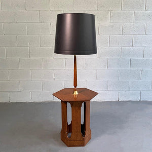 Harvey Probber Hexagonal Floor Lamp Side Table