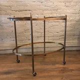 Oval Brass Bar Cart