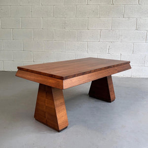 Art Deco Walnut Coffee Table Attributed To Donald Deskey