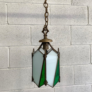 Arts & Crafts Stained Glass Pendant Light