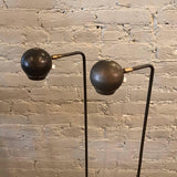 Gunmetal Eyeball Floor Lamp