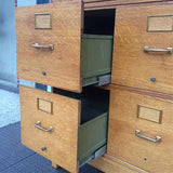 Double Oak File Cabinet