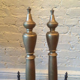 Brass Federal Style Andirons