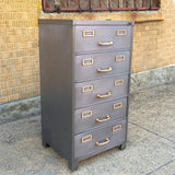 Brushed Steel Office Filing Cabinet