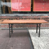 Industrial Wood Bench