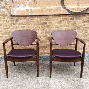 Walnut Armchairs