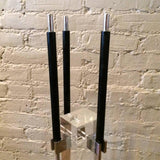 Albrizzi Lucite Chrome Fireplace Tools
