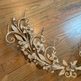 Gothic Floral Wreath Candle Wall Sconce
