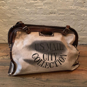 Canvas And Leather Postman U.S. Mail Delivery Bag