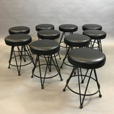 Iron and Vinyl Swivel Stools