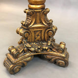 Carved Gilt Floor Lamp