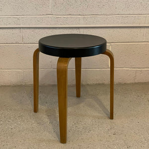 Bentwood Stool Side Table By Thonet