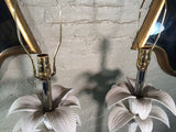 Hollywood Regency Palm Table Lamps
