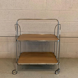 German Mid Century Modern Folding Serving Bar Cart