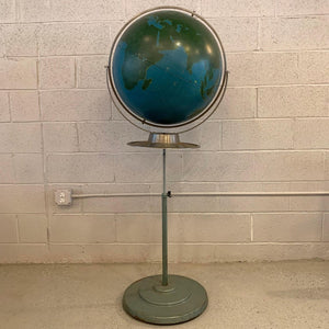Industrial Military Standing Chalk Globe By A.J. Nystrom