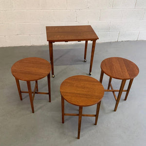 Poul Hundevad Teak Nesting Folding Side Tables