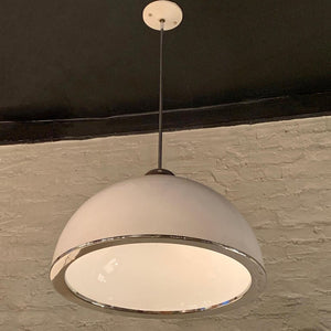 Mid Century Modern Diffused Dome Pendant Light