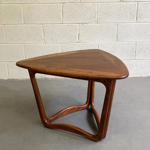 Mid Century Modern Walnut Guitar Pick Coffee Side Table By Lane Alta Vista