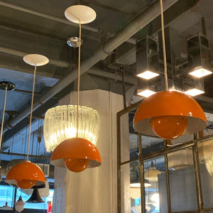Verner Panton Orange Flower Pot Pendant Lights For Louis Poulsen