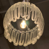 "Modernist Clear Blown Glass ""Jellyfish"" Chandelier"