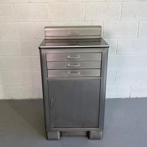 Industrial Brushed Steel Nurse Station Medicine Cabinet