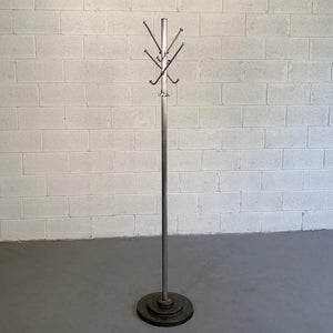 Art Deco Steel And Cast Iron Coat Rack
