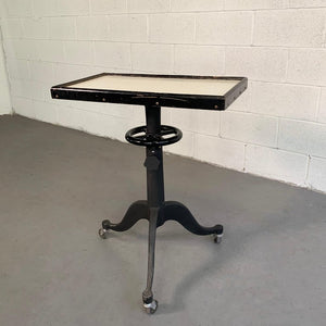 Industrial Optometry Examination Pedestal Table by Bausch & Lomb