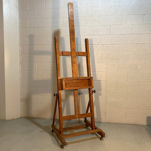 E. H. & A. C. Friedrichs Adjustable Oak Artist Easel