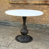 Marble Table With Ornate Cast Iron Base
