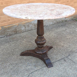 Travertine Pedestal Table