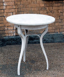 White Marble Café Table