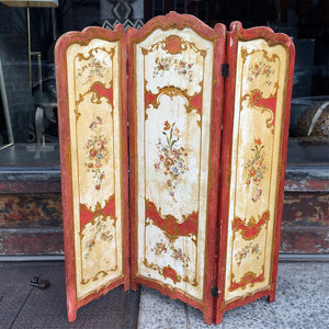 Hand-Painted Double Sided Screen Divider