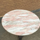 Pink Marble Bistro Table