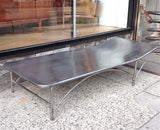 Steel Chaise Lounge
