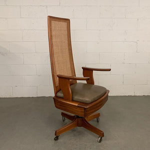 Mid-Century Modern Teak Executive Office Chair