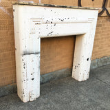 White Art Deco Mantel