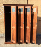 Antique Oak Police Lockers Circa Late 19th Century