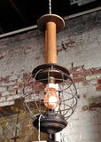 Cage Spool Pendant Light